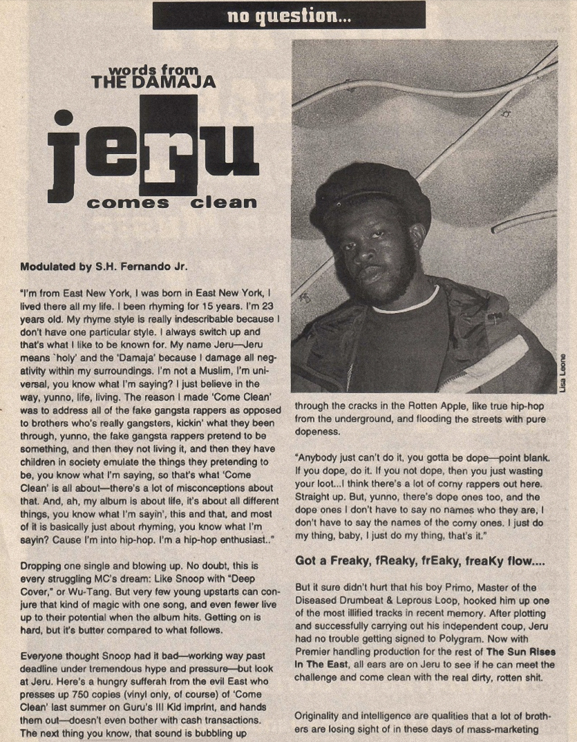 Jeru The Damaja (Ego Trip: Issue 1, 1994)