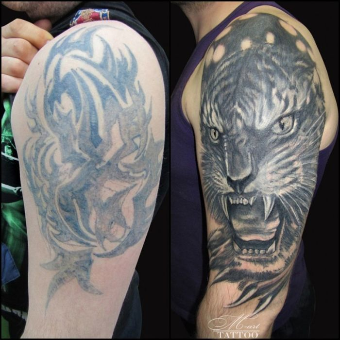 Tattoo cover ups that took tattoos from awful to epic for Cool cover up tattoos