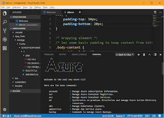 Azure shell in VS Code