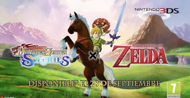 Monster Hunter Story anuncia DLC gratuito de Zelda para el 28 de septiembre