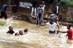 Flood areas in Nigeria