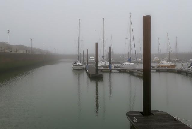 Photo of mist at Maryport Marina yesterday (Thursday)