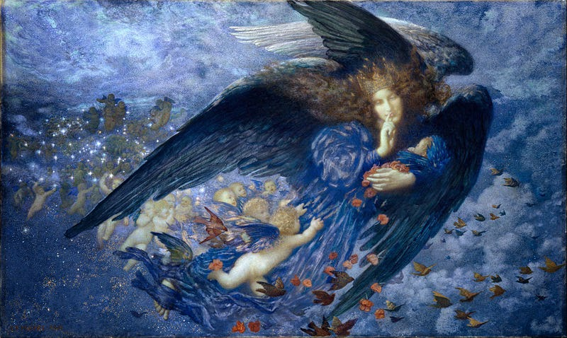 Night with Her Train of Stars, Edward Robert Hughes, British, 1851-1914