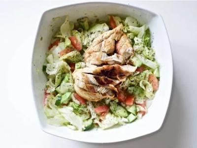 Blackened Chicken and Avocado Salad  #vegetarian