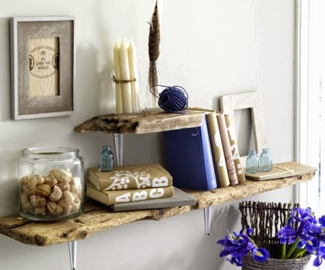 driftwood wall shelves