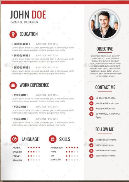 mod u00e8le cv - resume - version word 2017