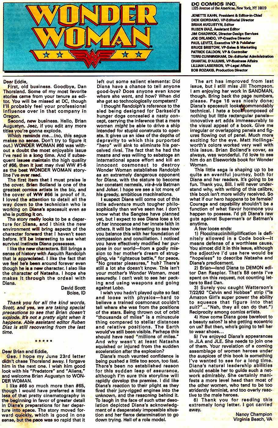 Read online Wonder Woman (1987) comic -  Issue #70 - 24