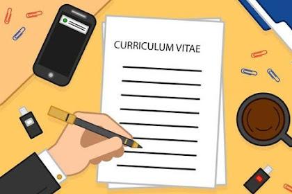 Langkah membuat CV Lamaran Kerja yang Menarik dan Profesional