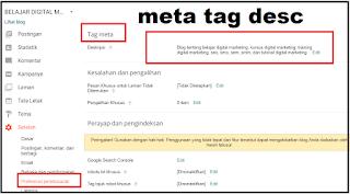cara mengisi meta tag description