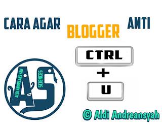 Anti CTRL+U blog