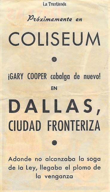 Dallas Ciudad Fronteriza - Programa de Cine - Gary Cooper - Ruth Roman