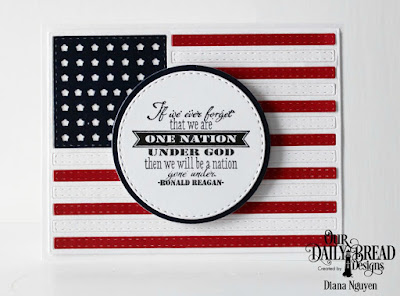 Our Daily Bread Designs Stamp Set: Justice for All, Paper Collection: Stars and Stripes, Custom Dies: USA Flag, Double Stitched Circles, Circles