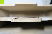 Ansicht innen: Eurosell Holz Schreibtischorganizer Brief Post Ablage Briefablage Postablage Briefständer Vintage Retro Design Designer Dokumenten Prospekte Ständer