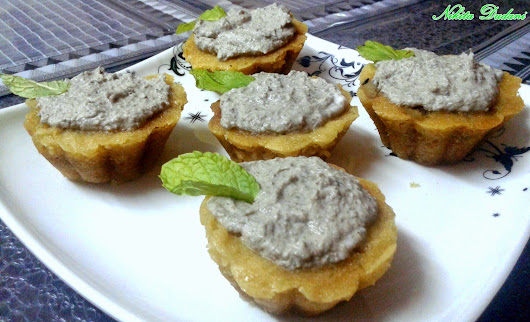 Sweet Potato Cupcake with Walnut & Mint Cream ~ All Plate Dishes