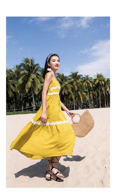 Shop ban vay maxi di bien o Phu Xuyen