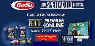 Logo Barilla ti regala fino a 2 mesi di Premium Online