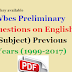 Wbcs Preliminary Questions on English Previous Years (1999-2017)