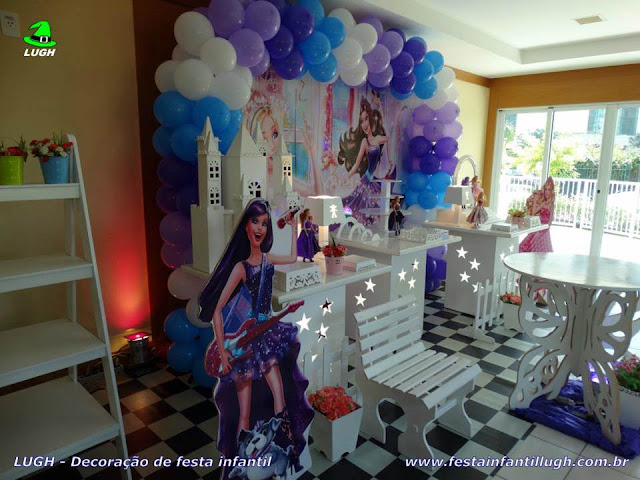 Decoração provençal temática da Barbie Pop Star