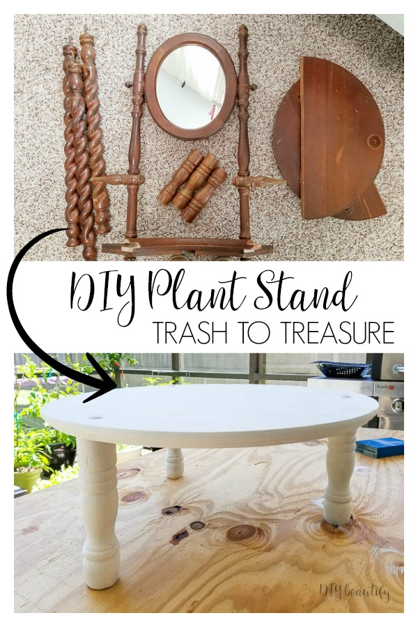 DIY plant stand trash to treasure