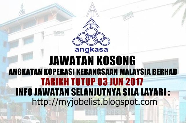 Jawatan Kosong Terkini di ANGKASA Jun 2017