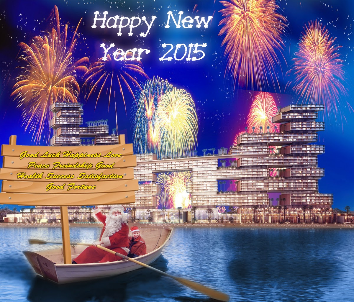 happy new year firework with dubai uae upcoming new project greeting card