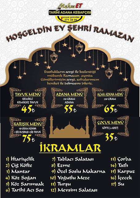 tarihi adana kebapçısı mehmet kayseri iftar menüleri kayseri iftar mekanları