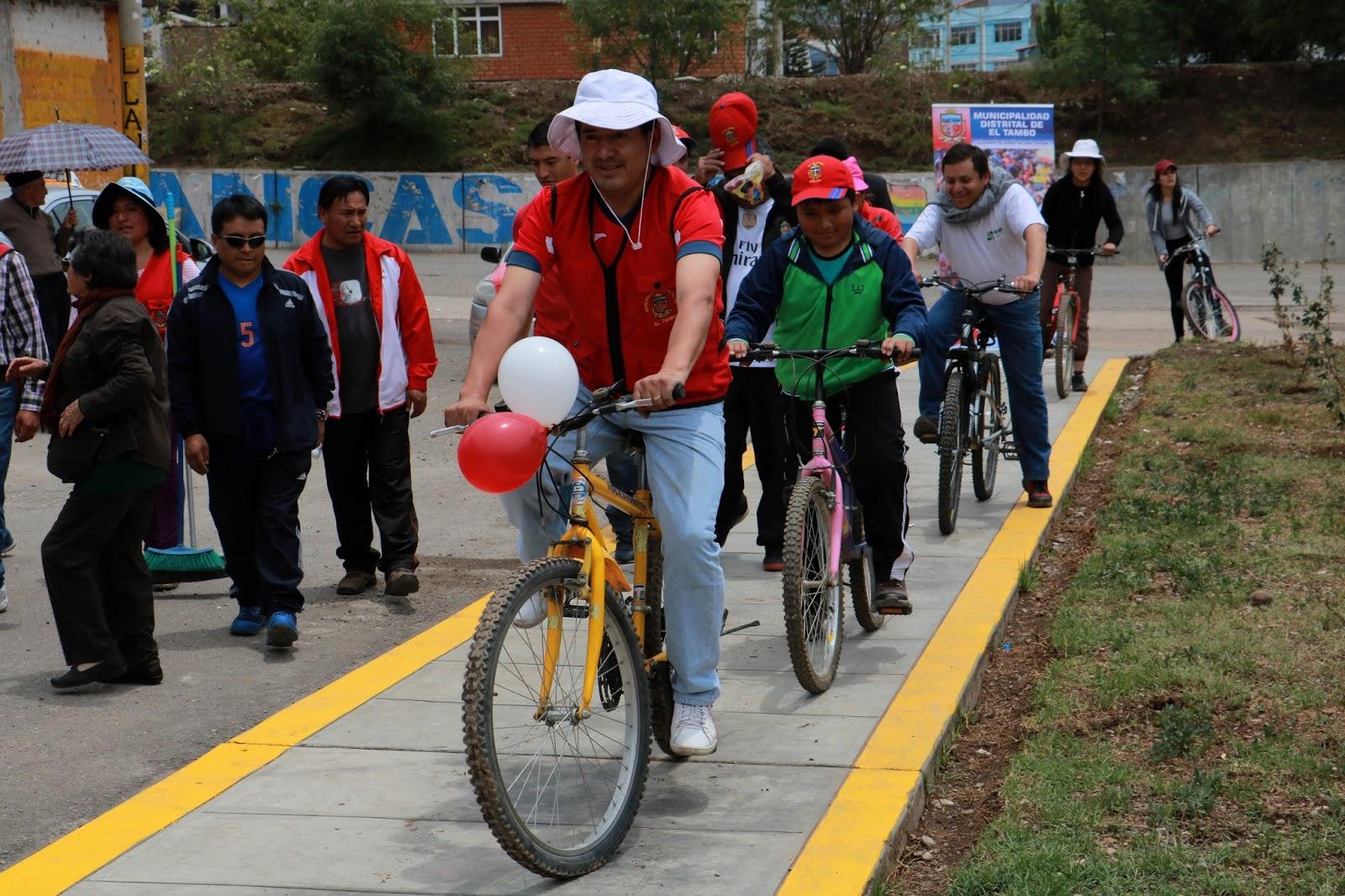 El distrito de El Tambo ya cuenta con una ciclovía única en la región central del país