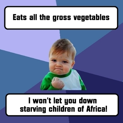"Success Kid ""Eats All Vegetables"""