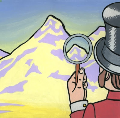 Marmaduke Finds Everest, by Alisa Perks. Gouache on paper