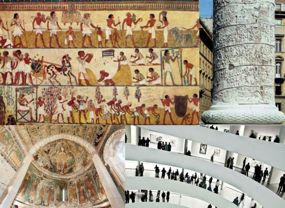 Los antepasados del cómic pintados sobre especímenes arquitectónicos
