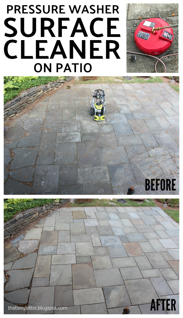 pressure washer surface cleaner patio before after