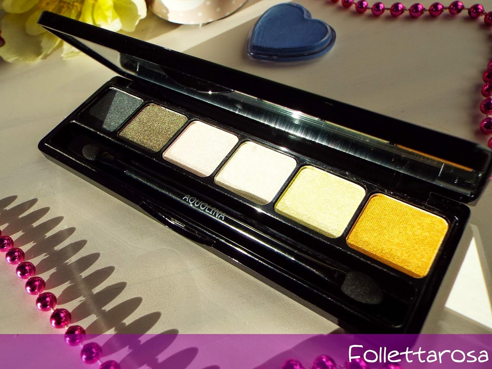 palette occhi aquolina make up