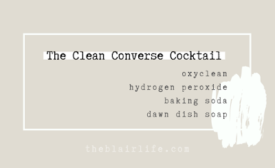 Clean Converse Cocktail: OxyClean, Hydrogen Peroxide, Baking Soda, Dawn Dish Soap