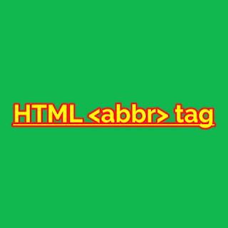 HTML <abbr> Tag