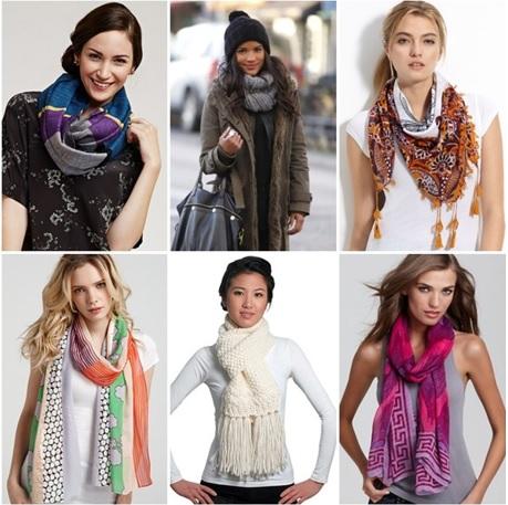 formas de usar una bufanda, formas diferentes de ponerse una bufanda