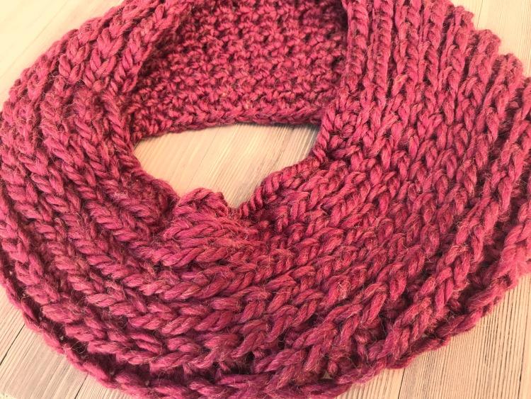 5 Little Monsters Knit Look Crochet Scarf