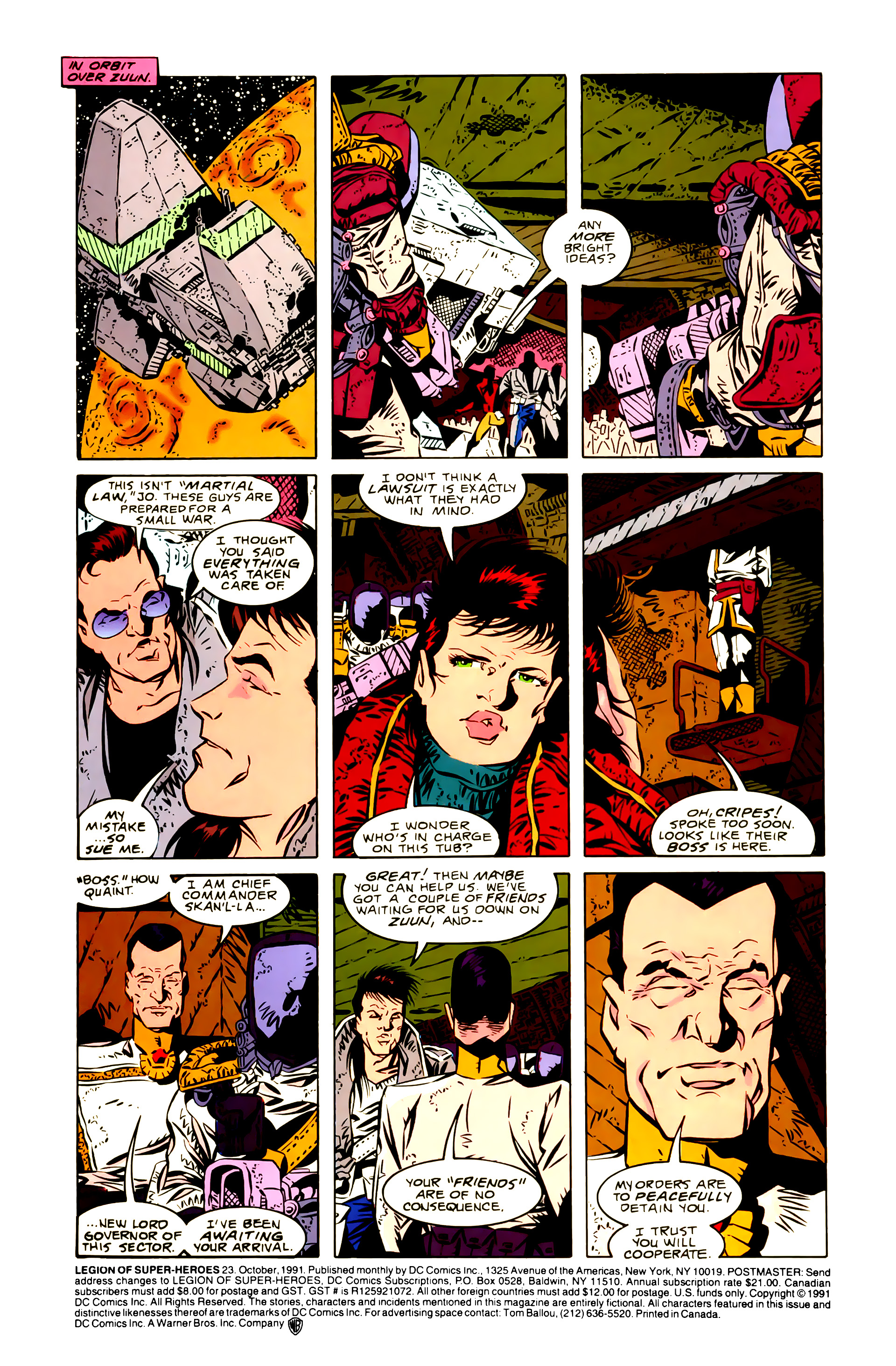 Legion of Super-Heroes (1989) 23 Page 1