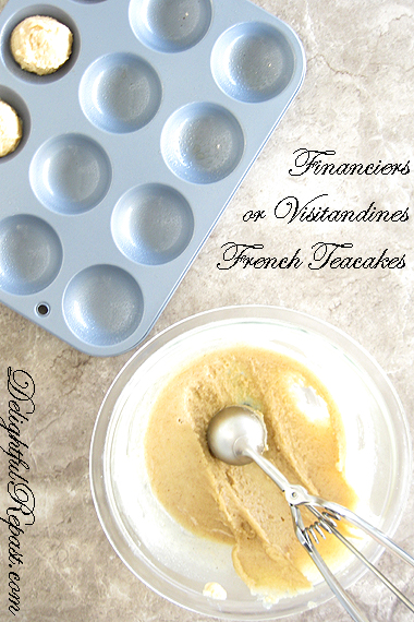 Financiers or Visitandines - Classic French Almond Teacakes / www.delightfulrepast.com