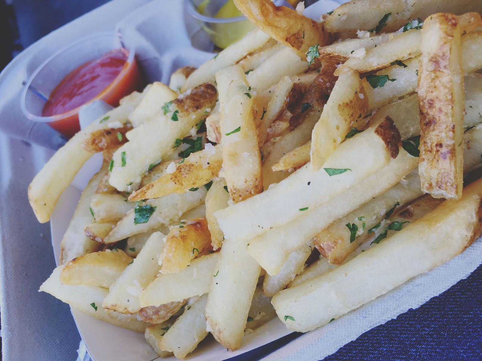 garlic fries at AT&T Park - the baseball stadium in San Francisco, California