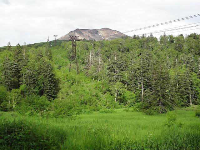 Vistas desde el suelo del volcán Asahidake en Hokkaido