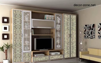 decorated TV wall units, living room design ideas