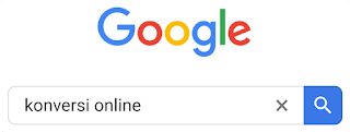 Konversi online google