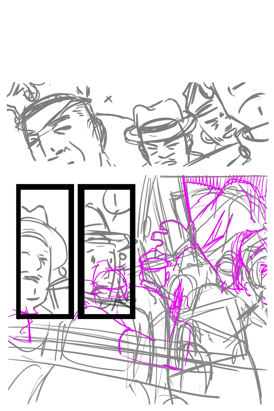 STEP ONE I Draw The Page In Rough Pencil Form It Might Be Unclear To You But Can See Where Im Trying Go