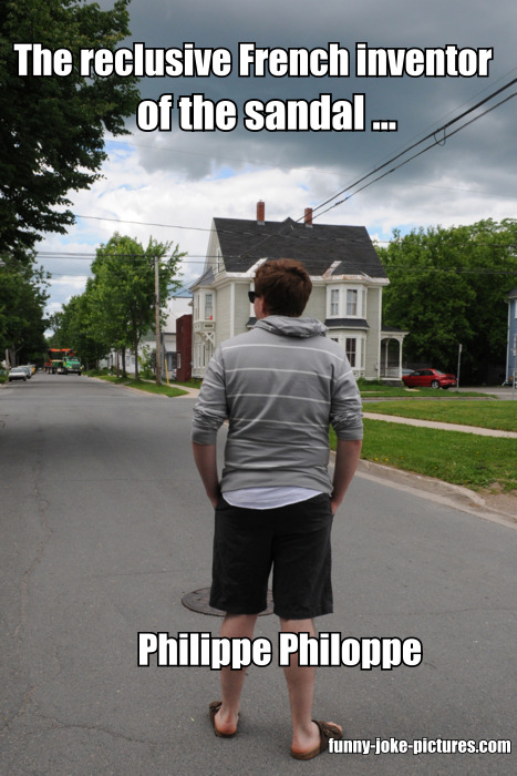 Reclusive French inventor of the sandal - Philippe Philoppe