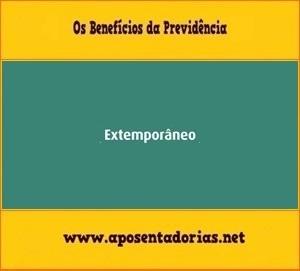 O que é Dado Extemporâneo no Cadastro da Previdência - CNIS