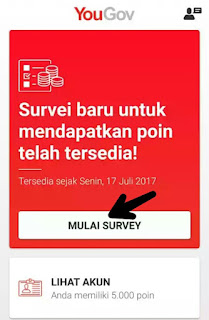 Kerjakan Survei Aplikasi YouGov