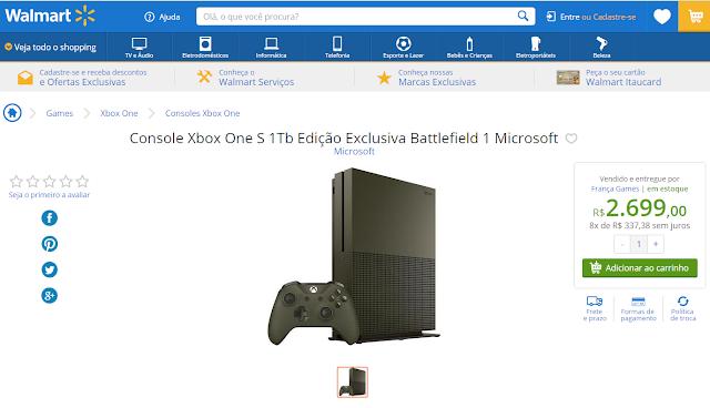 Xbox One S abaixa seu preço temporariamente nos Estados Unidos.