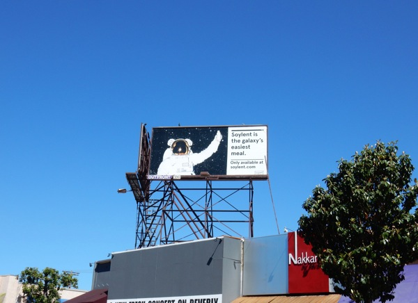 Soylent astronaut billboard
