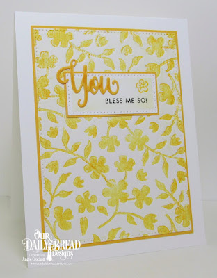 ODBD You Bless Me So Stamp/Die Duos, ODBD Custom Pierced Rectangles Dies, Card Designer Angie Crockett