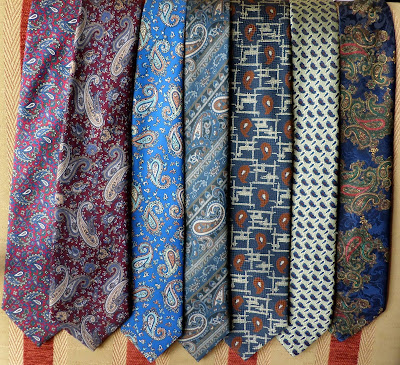 Paisley patterned neck ties